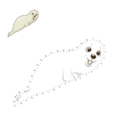 Learn to draw animal seal vector