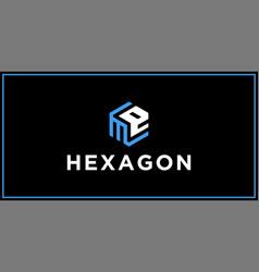 Me hexagon logo design inspiration vector
