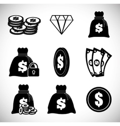 Money design value icon Flat vector
