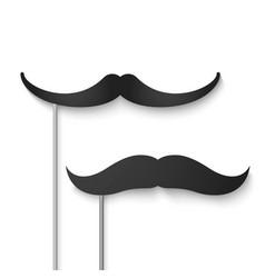 mustache season fake mustache mask vector image