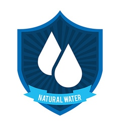 natural water vector image