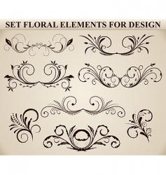 ornate floral element vector image