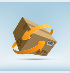 parcels by mail vector image