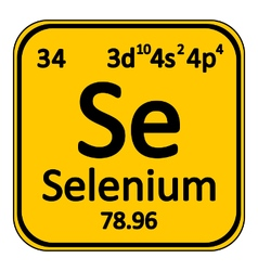 Periodic table element selenium icon vector