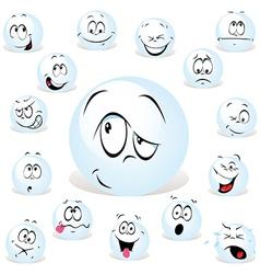 pong ball cartoon vector image