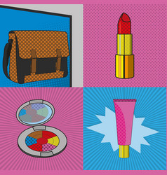 Pop art make up design vector