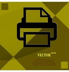 Printer Flat modern web design on a flat geometric vector image