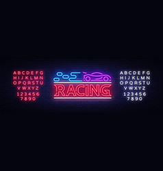 Racing sign design template street racing vector
