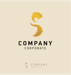 s company logo design with visiting card vector image