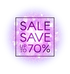 Sale banner on explosion abstract background vector