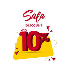 Sale discount up to 10 template design vector