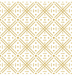 seamless checked pattern with golden glittering vector image