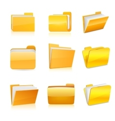 Set of computer folder vector image vector image