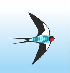 Swallow-sailor dressed up in frock vector