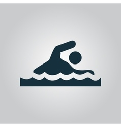 Swimming sign vector