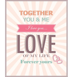 The card for valentines day vector
