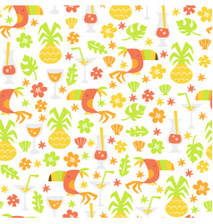 Tropical luau seamless pattern background vector