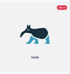 two color tapir icon from animals concept vector image