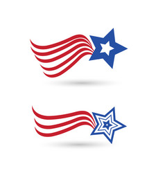 usa abstract flag star symbol vector image