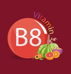 Vitamin b8 inositol natural organic products vector