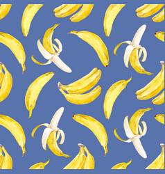 Watercolor banana pattern vector