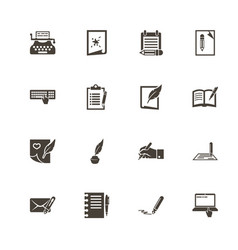 Writing - flat icons vector