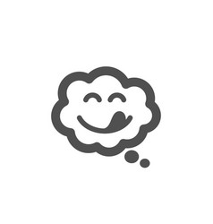 Yummy smile icon emoticon with tongue sign comic vector