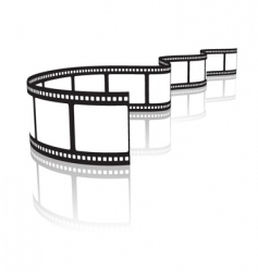film on a white vector image