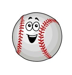 Fun happy baseball ball vector