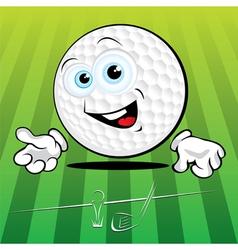 smiling golf ball vector image