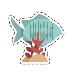 tropical fish sea habitat graphic coral vector image