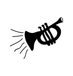 trumpet instrument icon image vector image vector image