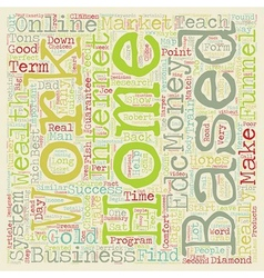 How To Choose The Right Home Based Business And vector image