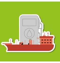 Oil industry and ship design vector
