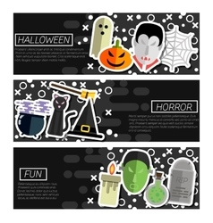 Set of Horizontal Banners about halloween vector image vector image