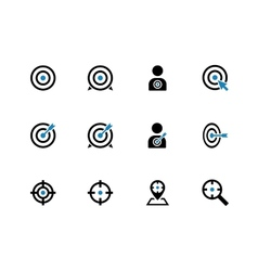 Target duotone icons on white background vector image vector image