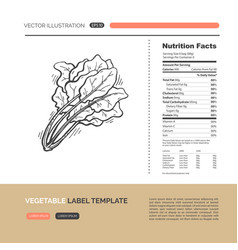 vegetables label concept vector image