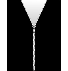 zipper isolated on black vector image