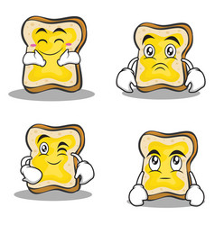 bread character cartoon set collection vector image vector image