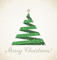 Christmas tree7 vector image vector image