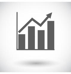Graph flat single icon vector image vector image
