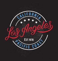 Los Angeles design print vector image vector image