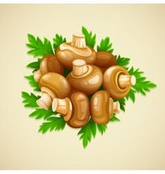 Organic food mushrooms vector image vector image