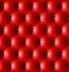 Red leather upholstery pattern vector image