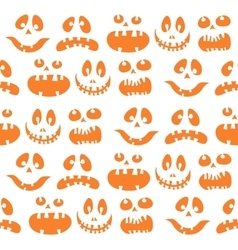 Scary Halloween seamless doodle pattern vector image