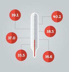thermometer icon temperature vector image vector image