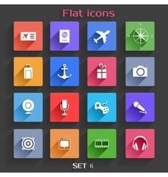 Flat Application Icons Set 6 vector image vector image