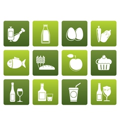 Flat Food drink and Aliments icons vector image vector image