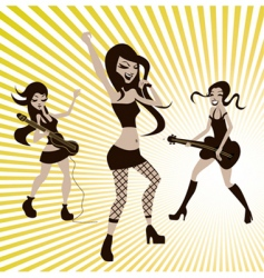 girls playing music vector image vector image