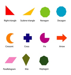 shapes chart for kids vector image